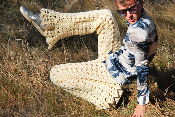 crochet fashion pants