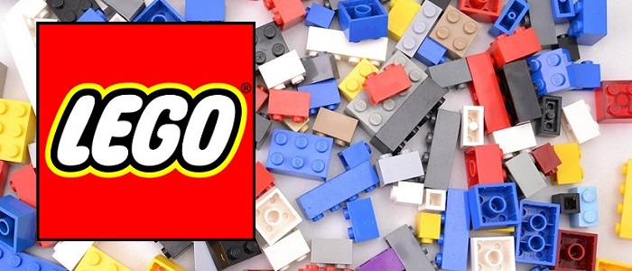LEGO bricks and logo