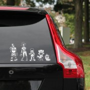 Zombie Family Car Decals
