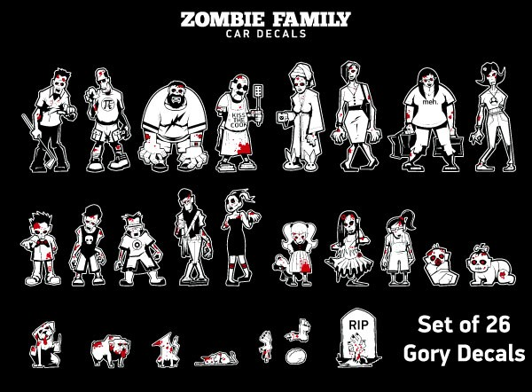 A zombie for every family member!