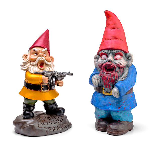 Zombie Garden Gnomes - With Gun